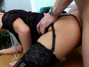 Seems Natalie is not used to severe fucking, she agonizes a lot