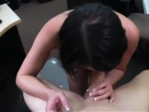 Customers wife banged by nasty pawn guy in his pawnshop