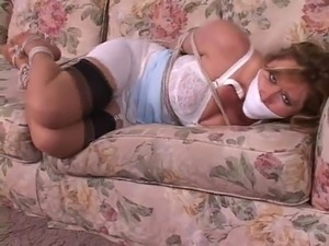 Housewife on couch