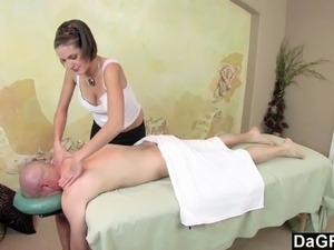 Dagfs  Busty Teens Massage Gets His Cock Rock Hard