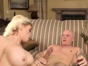 Busty Kylee rides on a fat dick
