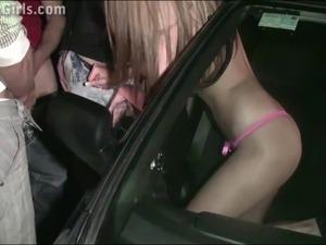 Beautiful porn star Kitty Jane PUBLIC sex gangbang orgy