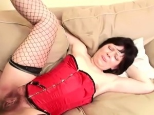 Dirty Granny Gets Her Hairy Pussy Fucked