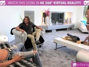VR Bangers -DILLION HARPER and PRISTINE EDGE in hot FOURSOME