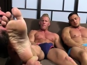 Gay feet footjob and gay boy foot cum Ricky Hypnotized To Wo