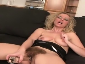Blonde got extra hairy pussy