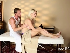 Amazing hardcore penetrate of tricky spa material