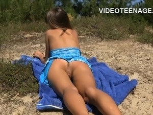 teen at beach interview