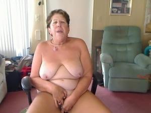 Masturbating Big Boob Granny Rock 'n Roll