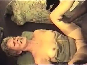 Mature blonde fucks and sucks her enthusiast that is dark a