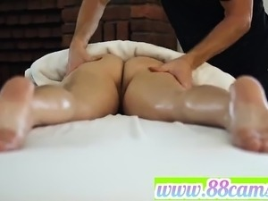 Chick massaged and then fucked by Tim