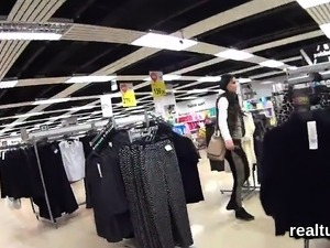 Perfect czech teen gets tempted in the mall and fucked in po