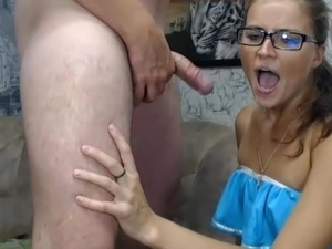 Hot girl fucked deep in mouth
