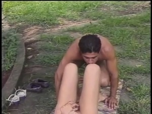 Sexy thin young brunette tranny loves getting her asshole stuffed by latin dick