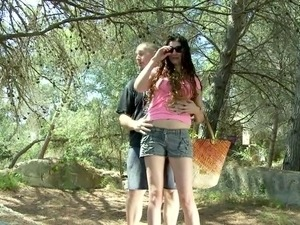 American Sabrina fucked outdoor
