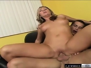 Sexy slender blonde girl Jessica Shaw loves to be treated like a slut
