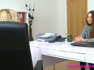 FemaleAgent Sensual lesbian pussy licking