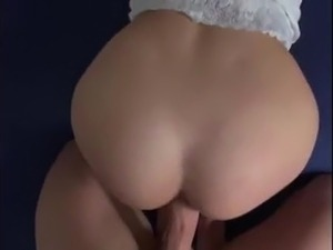 Blonde small tits  fucked and facial