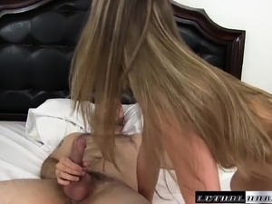 Hot Kimber Lee enjoys wild sex action with her stepbrother on the bed
