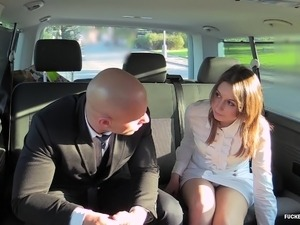 FuckedInTraffic - Czech slut fucked on the backseat of a car