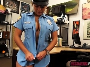 A busty police woman fucked hard