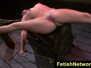 FetishNetwork Stella May bondage orgasm