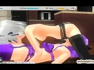Horny maid futanari oralsex and poked