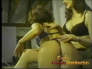 Sexy milfs in lingerie enjoy getting spanked and dominated t