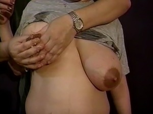 Mom's huge lactating boobs need relief 8
