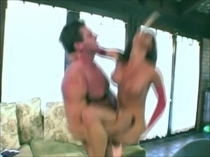 Bit tit slut gets anal creampie