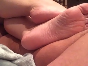 Wife's soles tease on my lap part 2