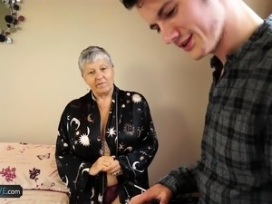 Old lady Savana fucked by student Sam Bourne by AgedLove
