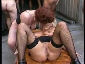 granny eating semen of a stranger from a granny boob