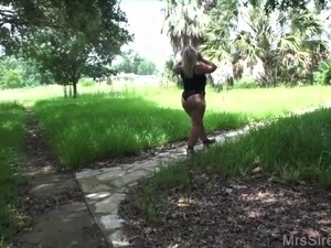 Wife Naked in Public Gazebo