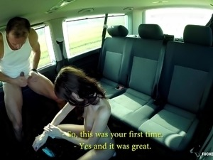FuckedInTraffic - Czech bitch giving blowjob in a car wash