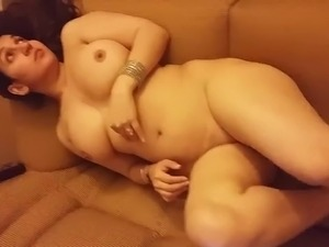 Desi Wife Nude on Sofa