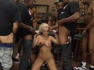 hottest milf interracial gangbang