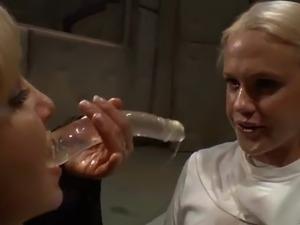 Nuns Deepthroating a Dildo