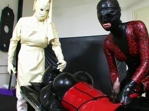 Trailer Bizarre white rubber nurse Leila