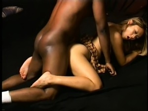 After her photo shoot, her horny photographer gives her his black cock