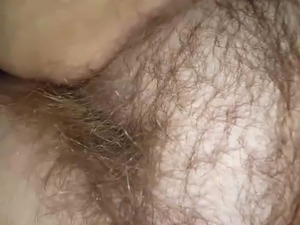 wifes big hairy bulge laying on her side