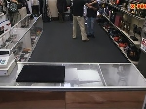 Customers wife pawns her pussy and pounded at the pawnshop