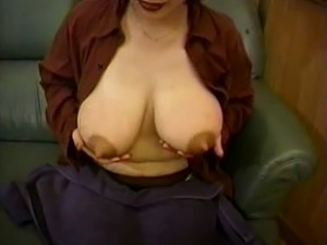 Mom's huge lactating boobs need relief 7