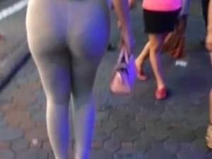 big ass walking in the street - pattaya