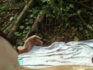 Dutch Teen Outdoor Beach Massage Fuck
