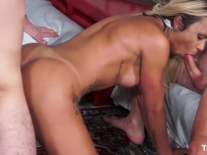 TransBella - Threesome with tranny Haycka Montoanelly
