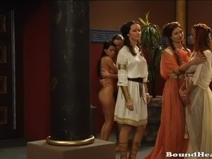 Hot Ancient Rome orgy With Lesbian Slaves