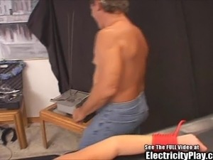 Crying Small Tit Blonde Whore BDSM Electrocution
