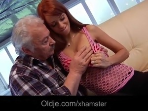 Grandpa Gustavo want to be a porn star so he takes a sex audition with young...